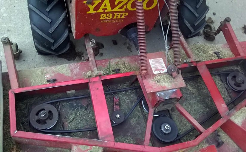Yazoo mower belt tensioner.