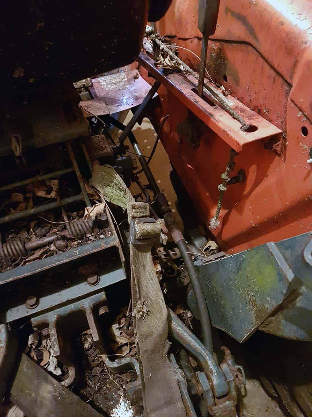 Kubota B20 weathered 3 point hitch