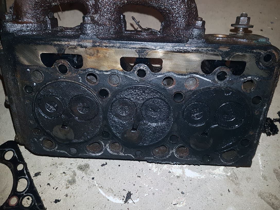 Kubota B20 Underside of Engine Head
