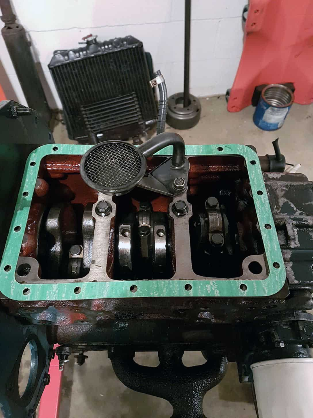 Kubota D950 Crankcase with Oil Pan Removed