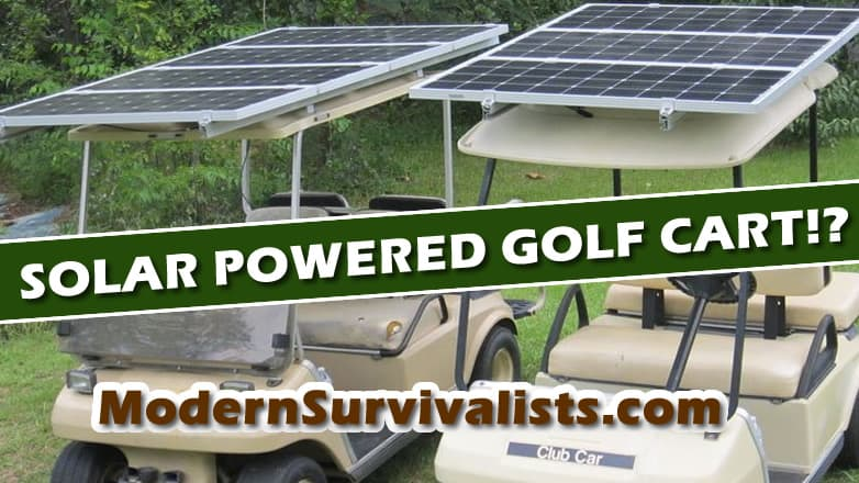Solar Powered Golf Cart!?