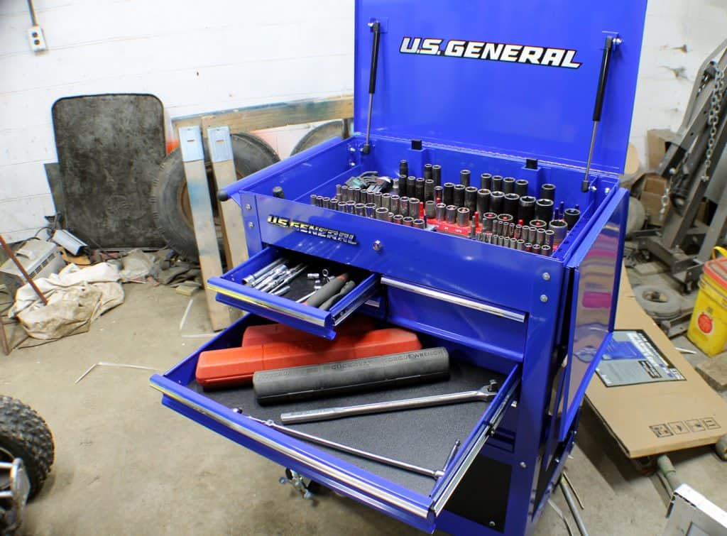 US General 5 Drawer Tool Cart with Tools